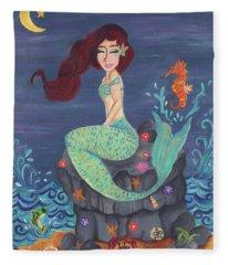 Under The Merlight Sea Fleece Blanket