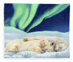 Under The Northern Lights Fleece Blanket
