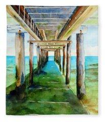 Under The Playa Paraiso Pier Fleece Blanket