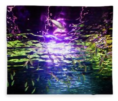 Under The Rainbow Fleece Blanket