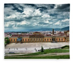 The Meridian Palace And Cityscape In Florence, Italy Fleece Blanket