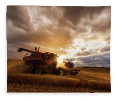 Under Threatening Skies Fleece Blanket