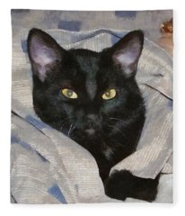 Undercover Kitten Fleece Blanket
