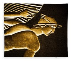 Underexposed Building Art Deco Fleece Blanket