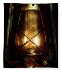 Underground Mining Lamp  Fleece Blanket