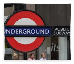 Underground Sign London Fleece Blanket