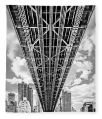 Fleece Blanket featuring the photograph Underneath The Queensboro Bridge by Susan Candelario