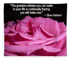 Understanding Hope With Quote By Elbert Hubbard Fleece Blanket