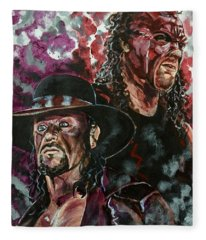 Undertaker And Kane Fleece Blanket