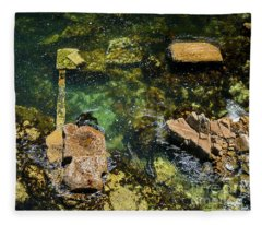 Underwater Art At Cannery Row Fleece Blanket