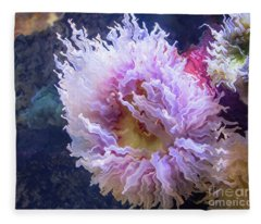 Underwater Flower Fleece Blanket