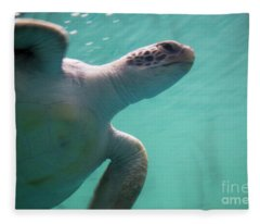 Underwater Race Fleece Blanket