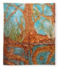 Underwater Trees Fleece Blanket
