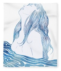 Undine I Fleece Blanket