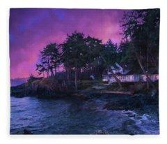 Undreamed Shores - Chesapeake Art Fleece Blanket