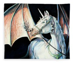 Unicorn Dragon Fleece Blanket