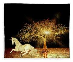 Unicorn Resting Series 1 Fleece Blanket