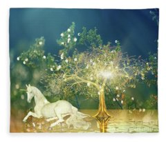 Unicorn Resting Series 2 Fleece Blanket