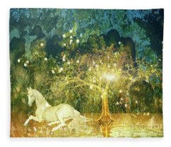Unicorn Resting Series 3 Fleece Blanket
