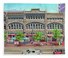 Union Block Building - Boise Fleece Blanket