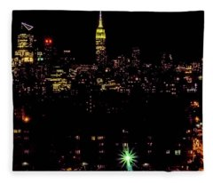 Union City Nj Traffic Fleece Blanket