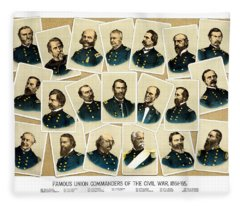 Union Commanders Of The Civil War Fleece Blanket