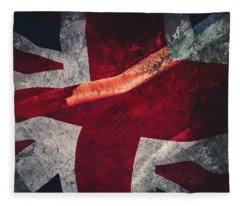 Union Jack Fine Art, Abstract Vision Of Great Britain Flag Fleece Blanket