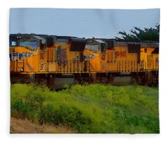 Union Pacific Line Fleece Blanket