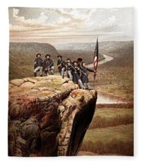 Union Soldiers On Lookout Mountain Fleece Blanket