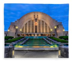 Union Terminal At Sunrise II Fleece Blanket