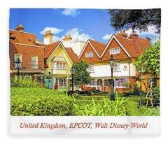United Kingdom Buildings, Epcot, Walt Disney World Fleece Blanket