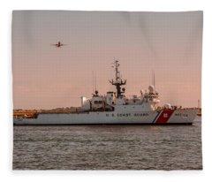 United States Coast Guard Cutter Escanaba Wmec-907 Fleece Blanket