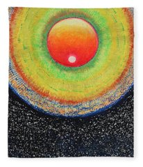 Universal Eye In Red Fleece Blanket