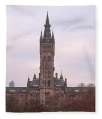 University Of Glasgow At Sunrise Fleece Blanket