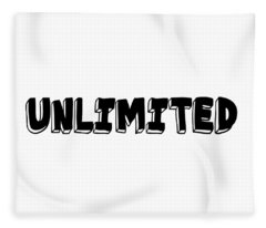 Unlimited - Art Print Poster, One Word Quotes  Fleece Blanket