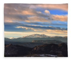 The Unmatched Beauty Of The Colorado Rockies Fleece Blanket
