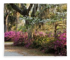 Unpaved Road In Spring Fleece Blanket