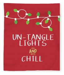 Untangle Lights And Chill- Art By Linda Woods Fleece Blanket