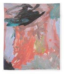 Untitled #11  Original Painting Fleece Blanket