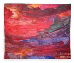 untitled 110 Original Painting Fleece Blanket