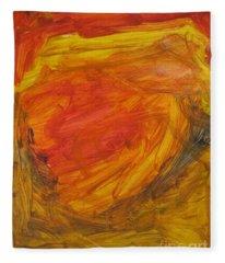 Untitled 112 Original Painting Fleece Blanket