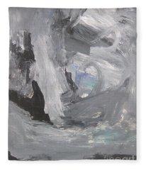 Untitled 124 Original Painting Fleece Blanket