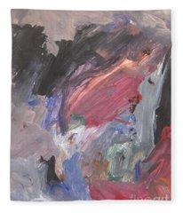 Untitled #6  Original Painting Fleece Blanket