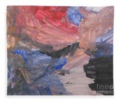 Untitled #7  Original Painting Fleece Blanket