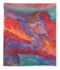 Untitled 95 Original Painting Fleece Blanket