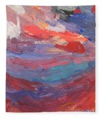 Untitled 96 Original Painting Fleece Blanket
