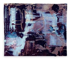 Fleece Blanket featuring the painting Untitled by 'REA' Gallery