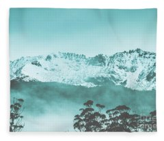 Untouched Winter Peaks Fleece Blanket