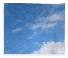 Up In The Clouds Extruded Cloudy Sky  Fleece Blanket