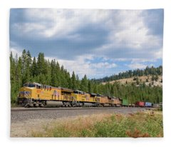 Up2650 Westbound From Donner Pass Fleece Blanket